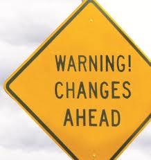 warning change ahead