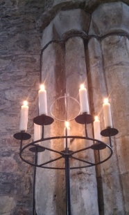 Candles in the Abbey at Iona